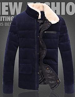 WAN pánské jednobarevné stát krk froté plášť silná bavlna kabát