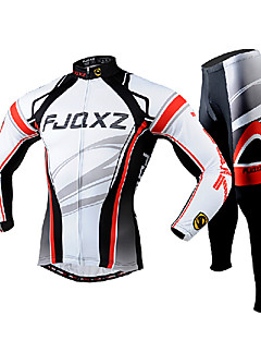 FJQXZ Cycling Jersey with Tights Men's Long Sleeve Bike Breathable Quick Dry Ultraviolet Resistant Jersey Tights Clothing Sets/Suits