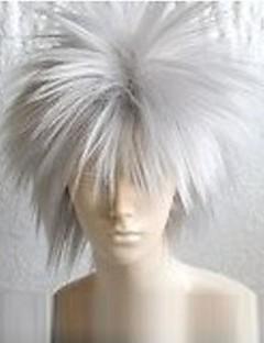 פאות קוספליי Naruto Hatake Kakashi לבן קצרה אנימה פאות קוספליי 30 CM סיבים עמידים לחום זכר