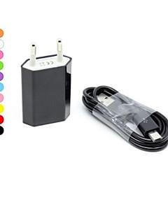 eu šňůra zeď nabíječka s 100cm micro USB kabel pro Samsung S4 / S3 / s2 a další (různé barvy)