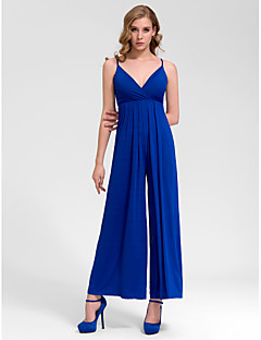 Formal Evening Dress - Royal Blue A-line V-neck Floor-length