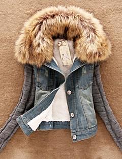 De Xiuyi vrouwen hoodie denim jas