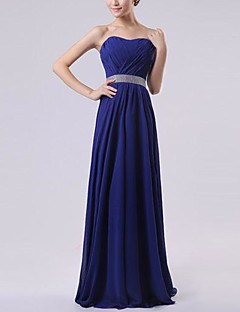 Floor-length Chiffon Bridesmaid Dress - Royal Blue / Ruby / Watermelon / White / Lavender A-line Sweetheart