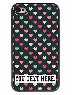 caixa personalizada coração bonito caso design de metal para iPhone 4 / 4S