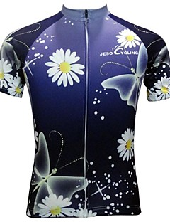 JESOCYCLING® Cycling Jersey Women's Short Sleeve Bike Breathable / Quick Dry / Anti-skidding/Non-Skid/Antiskid Jersey / Tops Polyester
