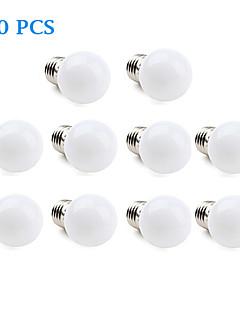 1W E26/E27 LED-pallolamput 12 SMD 3528 30 lm Lämmin valkoinen / Kylmä valkoinen AC 220-240 V 10 kpl