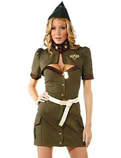 Cosplay Costumes Uniforms Festival/Holiday Halloween Costumes Hollow Shirt / Dress / Belt / Hats Female