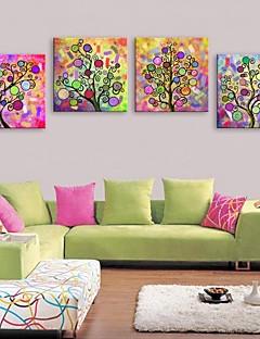 e-Home® venytetty kankaalle taide Abstrakti puu kirkas koriste maalaus sarja 4