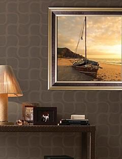 Landscape Framed Canvas / Framed Set Wall Art,PVC Golden No Mat With Frame Wall Art
