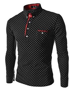 Men's Long Sleeve T-Shirt , Cotton Work/Formal Plaids & Checks