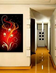 전자 home®는 광섬유 인쇄 번쩍 캔버스 인쇄 예술 붉은 꽃 플래시 효과를 이끌어 뻗어