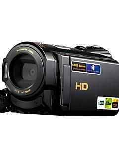 1080p / 15fps Full HD-videokamera med 16.0mp med 3.0inch LCD pekskärm dual kortplatser (tf / sd) videokamera (HDV-502st)