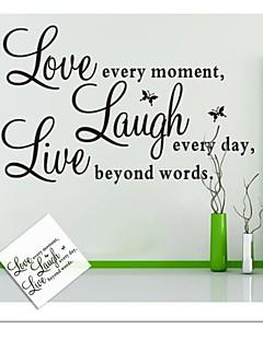 Wall Stickers Veggdekor, live kjærlighet engelske ord&siterer pvc vegg klistremerker