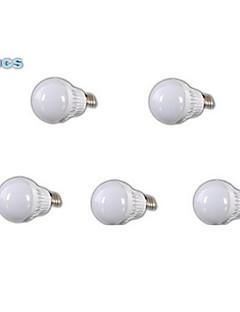 5 pcs MORSEN E26/E27 5 W 18 SMD 2835 400-500 LM Warm White A60 Globe Bulbs AC 220-240 V
