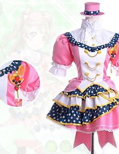 Inspirovaný Love Live Kotori Minami Anime Cosplay Kostýmy Cosplay šaty Patchwork Růžová Krátké rukávy Tričko / Sukně / Vlasové ozdoby