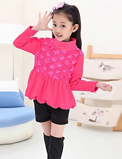 Girl's Cotton Blouse , Winter/Spring/Fall Long Sleeve