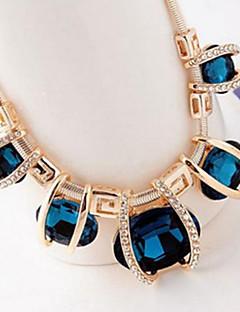 Γυναικεία Κολιέ Δήλωση Κρυστάλλινο Κοσμήματα Κρύσταλλο Προσομειωμένο διαμάντι κοστούμι κοστουμιών Ευρωπαϊκό Γιορτές/Διακοπές Κοσμήματα Για
