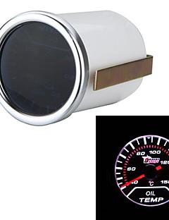 "Car Motor Universal Smoke Lens 2"" 52mm 40-150°C Indicator Oil Temp Gauge White LED Tempreture Meter"