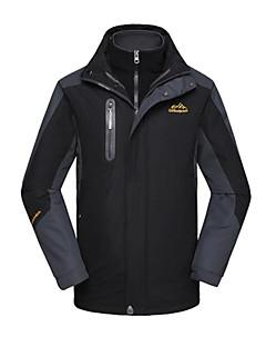 לגברים מעילי סקי/סנובורד / ג'קט / מעילי 3 ב 1 / ז'קטים לחורף / צמרות סקי / מחנאות וטיולים / טיפוס / החלקה / ספורט שלגעמיד למים / נושם /