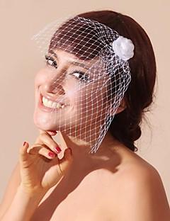 tule e cetim casamento / partido véus blusher