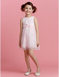 A-line Şort/Mini Polyester Çiçek Kız Elbise