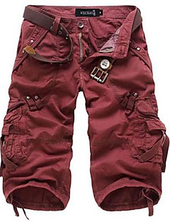 Men's Green/Red/Yellow/Gray Cotton Blend Pant,Shorts
