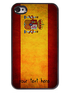 Personalized Case Spanish Flag Design Metal Case for iPhone 4/4S
