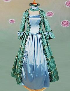 langermet fotsid lys grønn bomull gotisk lolita kjole