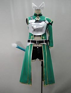Inspirerad av Sword Art Online Shino Animé Cosplay Kostymer/Dräkter cosplay Suits Lappverk Grön 3/4-dels ärmKappa / Byxor / Armbindel /