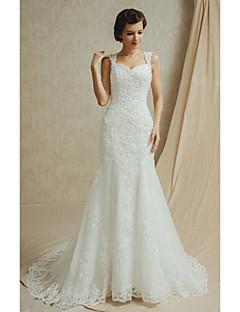 웨딩 드레스 - 화이트&샴페인(색상은 모니터에 따라 다를 수 있음) 핏 & 플레어 바닥 길이 스윗하트