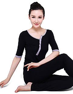 étnicos elegante yoga ternos preto da aptidão