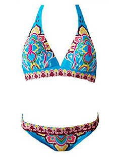 Women's Indian Totem Halter Neck Beach Bikini Swimwear Set