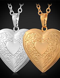 Naisten Riipus-kaulakorut Lockets Kaulakorut Kupari Gold Plated Love Muoti Kultainen Korut Varten Päivittäin Kausaliteetti 1kpl