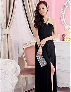 Holiday Lady Bandeau Sexy Milk Silk Formal Dress