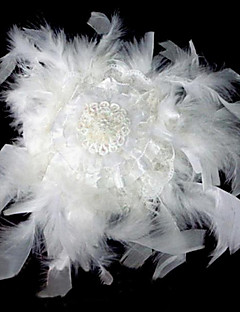 Fashion Feather Flower Little Barrettes