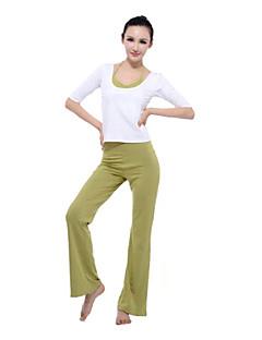 yoga cor da moda meia manga top colarinho única e calças