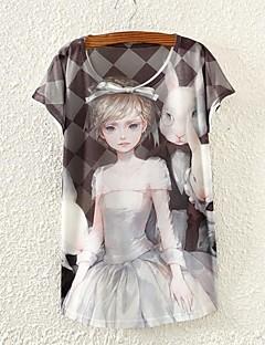 Women's Plaids Beauty Print Short Sleeve T-shirts