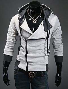 Men's Casual/Sport Plaids & Checks Long Sleeve Activewear Sets (Cotton Blends)  K3B08