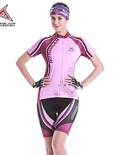 MYSENLAN® Cycling Jersey with Shorts Women's Short Sleeve BikeBreathable / Quick Dry / Anatomic Design / Ultraviolet Resistant / Moisture