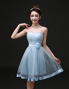 Cocktail Party/Formal Evening Dress A-line Strapless Short/Mini Tulle Dress