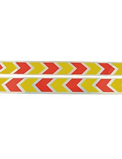 Car Auto Arrows Pattern Safety Reflective Stickers-(2pcs)Yellow & Red