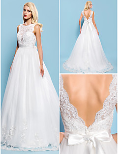 Lanting Bride® Ball Gown Petite / Plus Sizes Wedding Dress - Classic & Timeless / Glamorous & Dramatic Vintage Inspired / Open BackCourt
