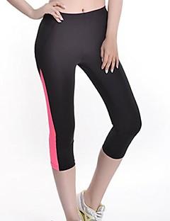 3/4 calças justas Mulheres - Respirável/Secagem Rápida/wicking/Compressão/Tiras Refletoras
