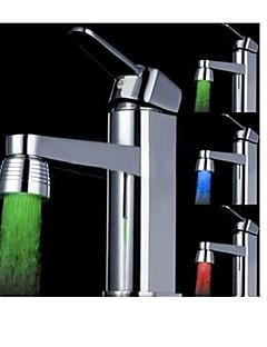 χωρίς μπαταρία αλλάζει το χρώμα του νερού που τροφοδοτείται κουζίνα πολύχρωμο οδήγησε φως βρύση