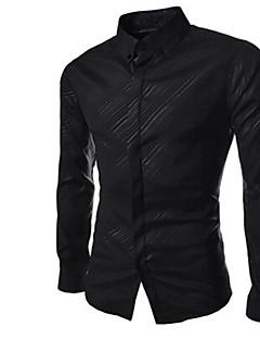 Afslappede skjorter ( Bomuld/Rayon ) MEN - Vintage/Casual/Party/Arbejde Lang Ærmet