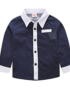 Katoen-Winter / Lente / Herfst-Boy's-Overhemd-Effen