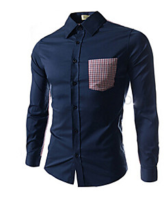 Vintage/Informeel/Feest/Zakelijk MEN - Vrijetijds shirts ( Katoen/Rayon )met Lange Mouw