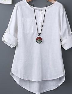 Women's Casual Cute Micro Elastic Long Sleeve Regular T-shirt
