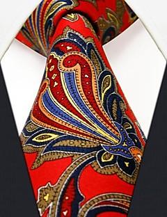 Gravata (de Seda , Vermelho) - Casual