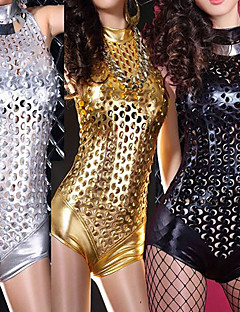 Cosplay Costumes Uniforms Festival/Holiday Halloween Costumes Golden / Silver / Black Solid Leotard/Onesie Female Polyester